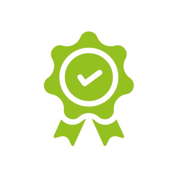 Geprüft & Zertifiziert Icon