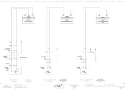 Zeichnung eines E-Plans ESL